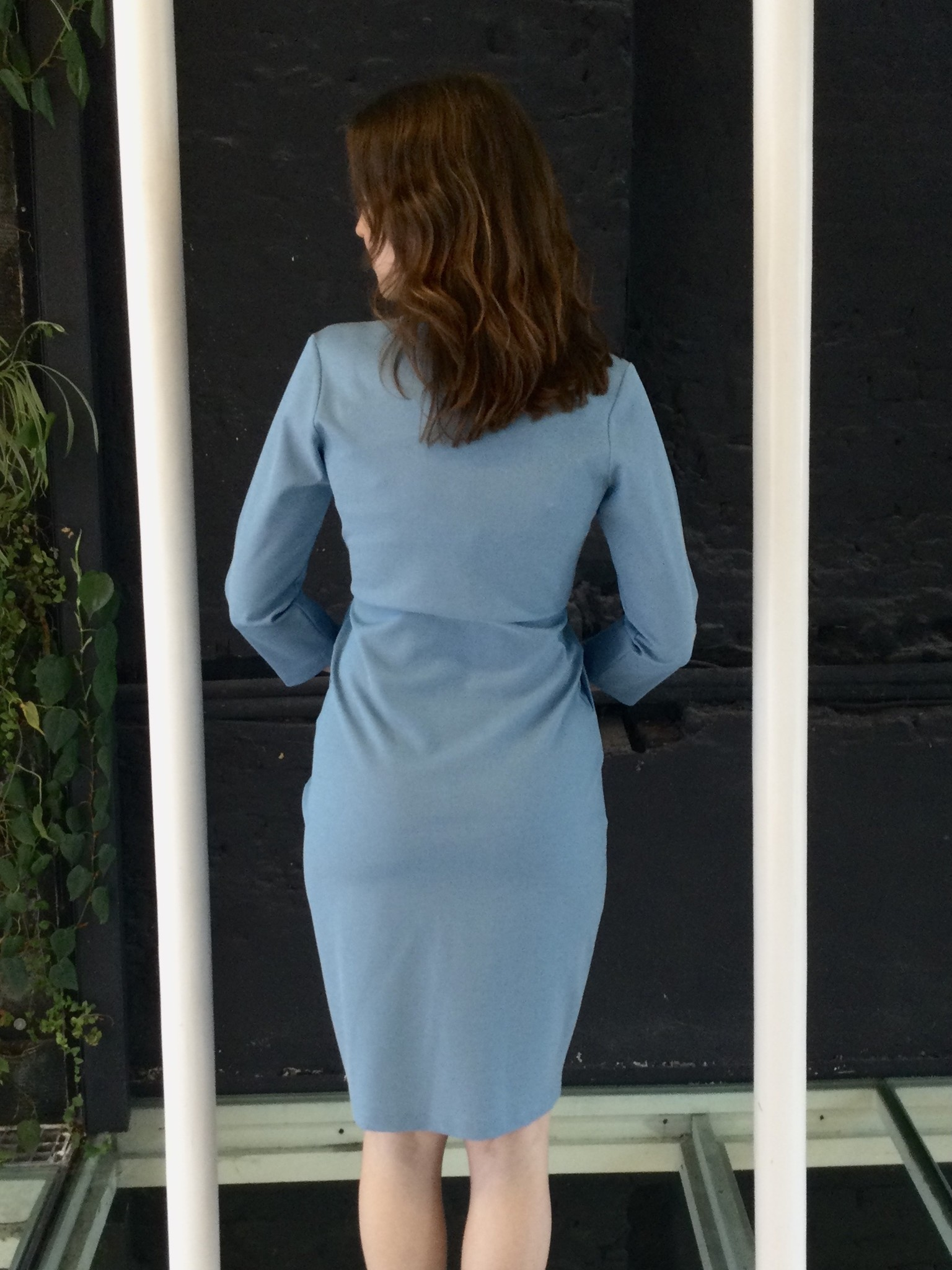 Comfy Dress 7/8 Sleeves Blue Sparkle-3