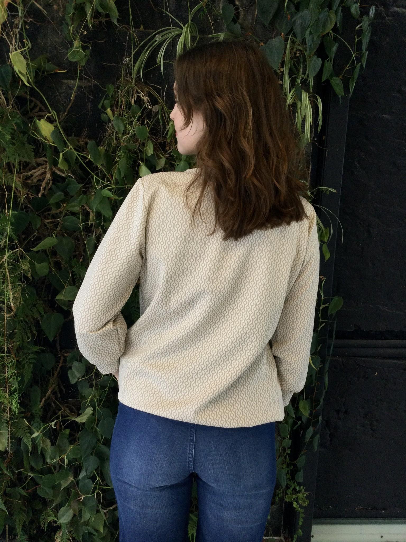 Zip Sweater Ecru Patterns-3