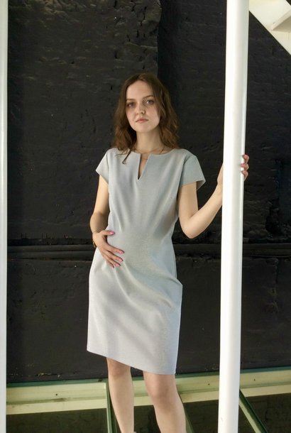 Slim Tunic Short Sleeves Silver Sparkle