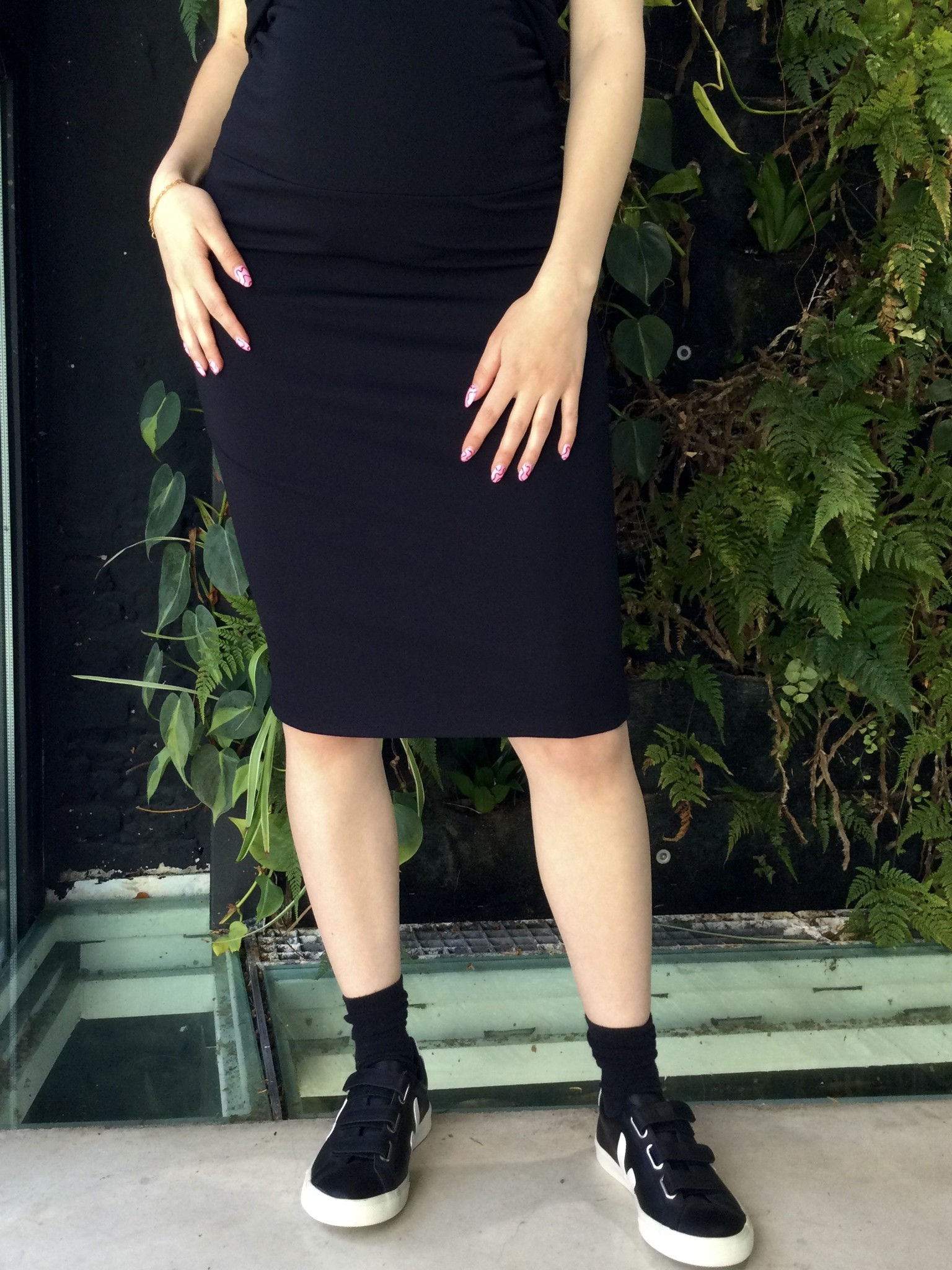 Pencil Skirt Black-2