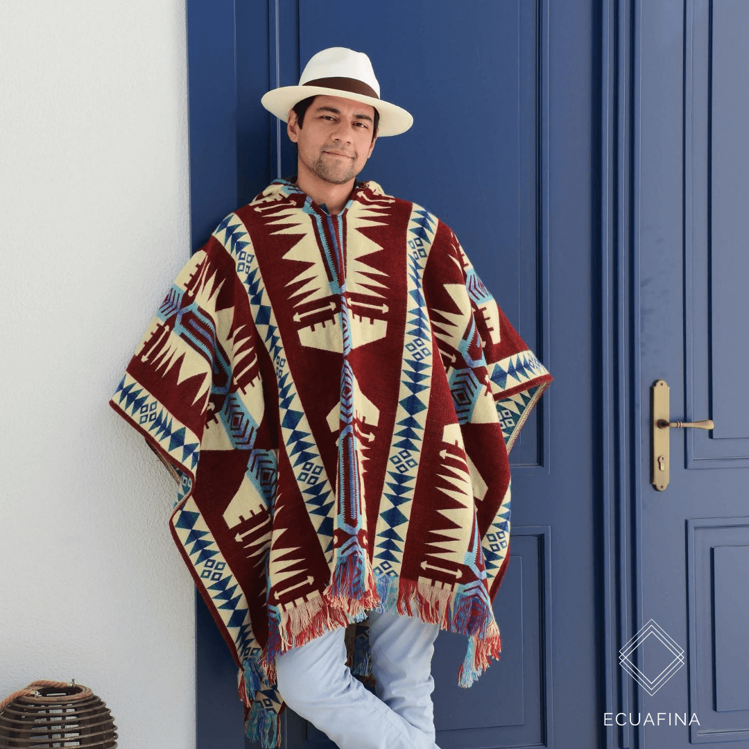 Andres met native poncho