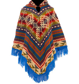 EcuaFina Poncho Native Blue