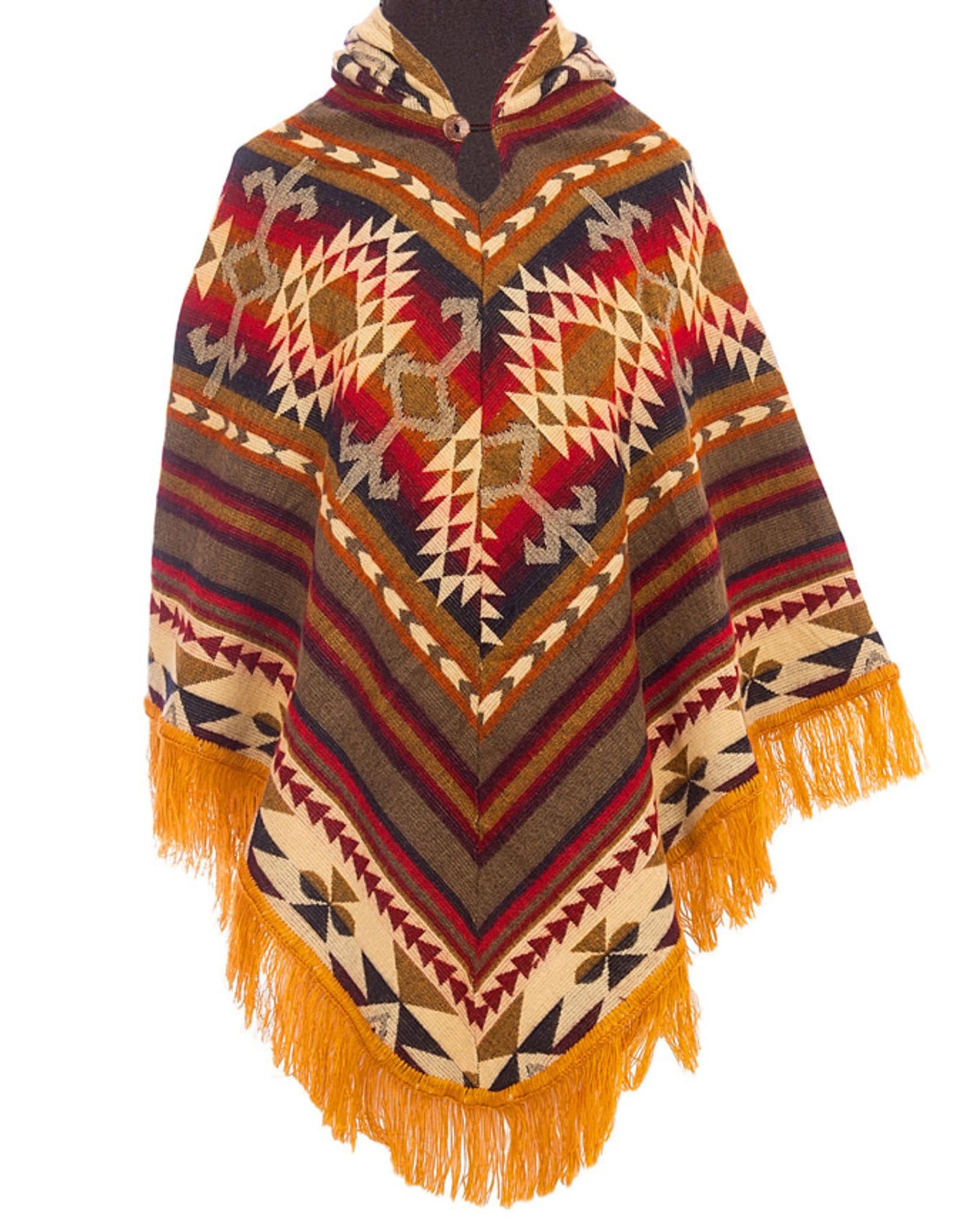 EcuaFina Kleurrijke native poncho