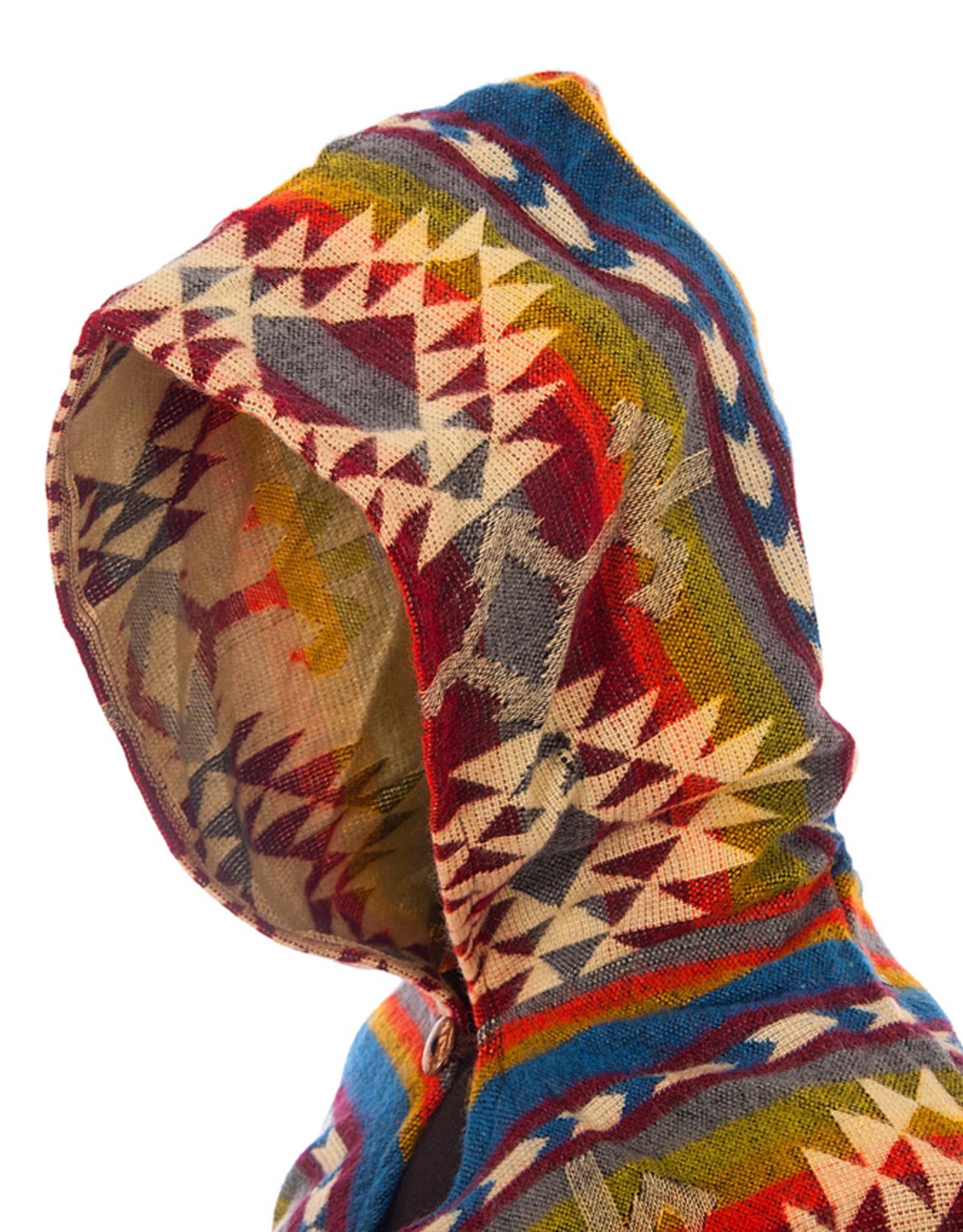 EcuaFina Blauwe native poncho