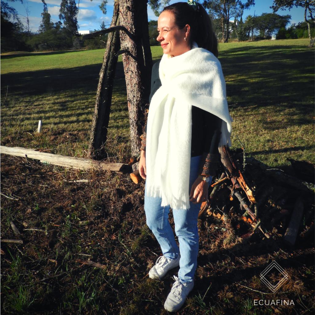 Rebecca with alpaca scarf