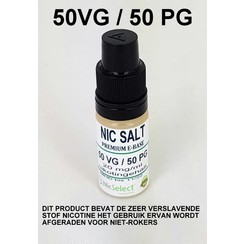 NIC SALT BOOSTER 50/50 10X 10 ML