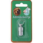 Adreskoker chroom hond, 26 mm blister.