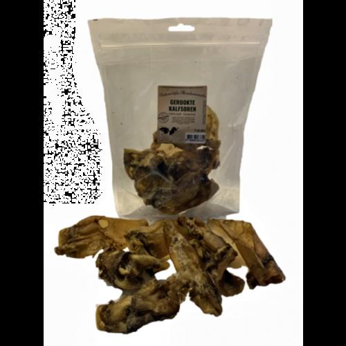 natuurlijke hondensnacks Ambachtelijk gerookte kalfsoren per 7