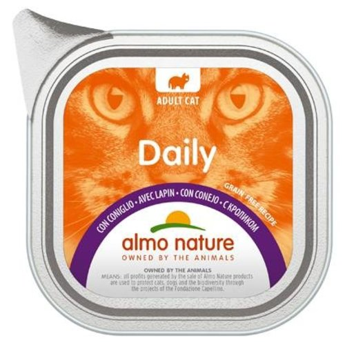Almo Nature AN Daily Menu Alu met Konijn 100 gr.