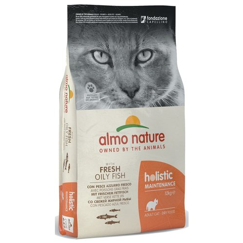 Almo Nature AN Holistic Kat White Fish&Rice 12 kg.