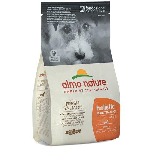 Almo Nature AN Holistic Dog S Zalm & Rijst 400 gr.