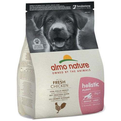 Almo Nature AN Holistic Dog M Puppy Kip 2 kg.