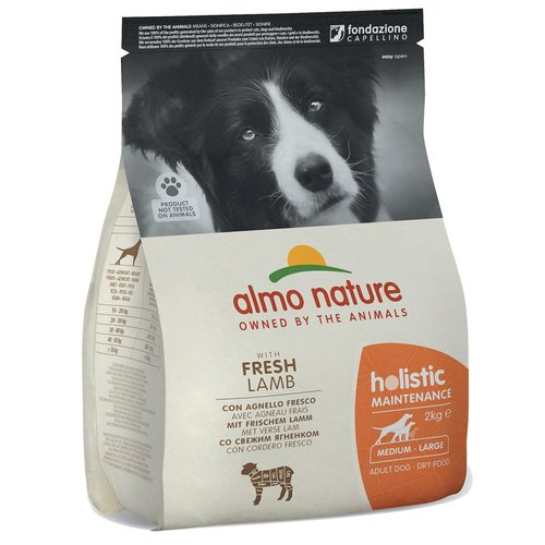 Almo Nature AN Holistic Dog M Lam & Rijst 2 kg.