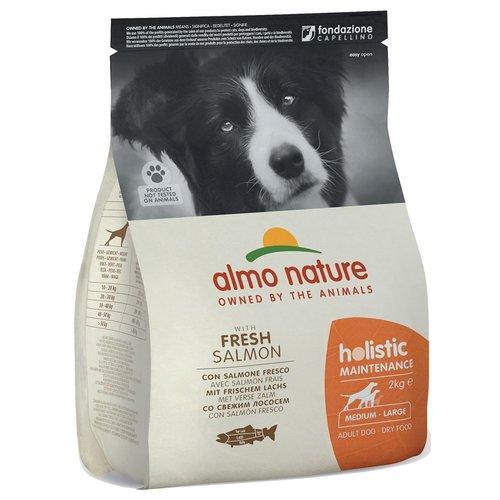 Almo Nature AN Holistic Dog M Zalm & Rijst 2 kg.