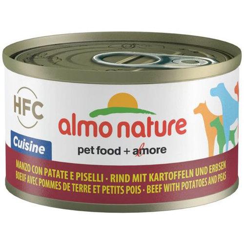 Almo Nature AN Dog HFC Cuisine Rund Aardappel Erwten 95 gr.