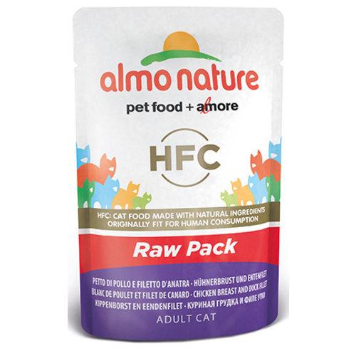 Almo Nature AN Raw Kip en Eend 55 gr.