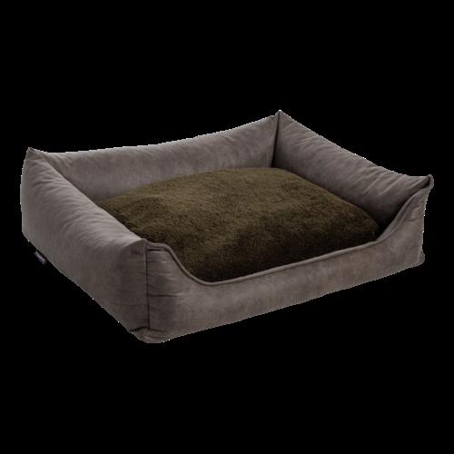 MaxxNobel MaxxNobel Orthopedische sofa lederlook/teddy Olijf 120/85 cm