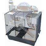 Interzoo Interzoo hamsterkooi Rocky Plus, zwart/zwart.