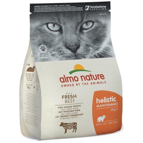 Almo Nature AN Holistic Kat Rundvlees en Rijst 2 kg.