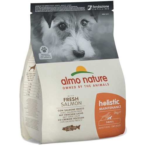 Almo Nature AN Holistic Dog S Zalm & Rijst 2 kg.