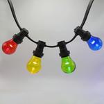 4 lampade miste colorate con bulbo grande