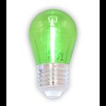 Lampadina LED a filamenti colorata, 1 watt, verde