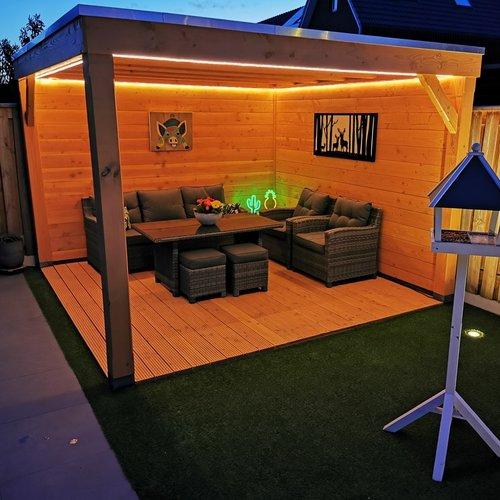 Striscia LED luminoso per esterno - Bianco caldo