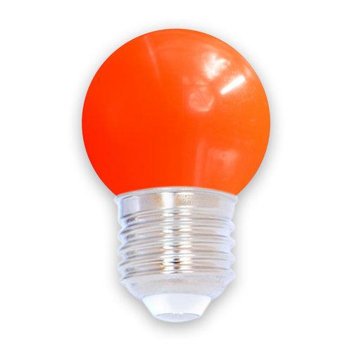 Lampadina LED colorata, 1 watt, rosso, Ø45