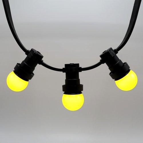 Lampadina LED colorata, 1 watt, giallo, Ø45