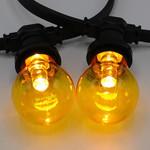 Lampadina LED colorata, 1 watt, giallo, rivestimento trasparente Ø60