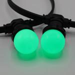 Lampadina LED colorata, 1 watt, verde, Ø45