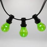 Lampadina LED colorata, 1 watt, verde, rivestimento trasparente Ø60
