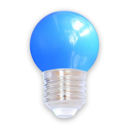 Lampadina LED colorata, 1 watt, blu, Ø45