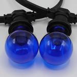 Lampadina LED colorata, 1 watt, blu, rivestimento trasparente Ø60