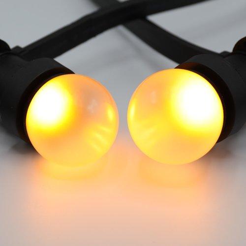 Lampadine LED a luce bianca calda con rivestimento satinato, Ø45