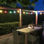 Set misto, 4 LED colorati con grande rivestimento, Ø60