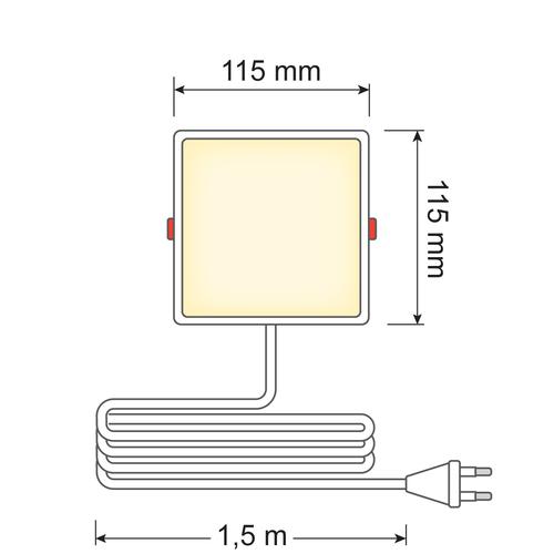 Faretti LED Downlight quadrati - 6 watt - 115 x 115mm