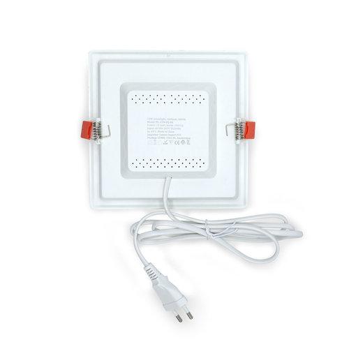 Faretti Downlight LED quadrato - 12 watt - 165 x 165mm
