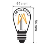 Set di catene luminose con lampade LED colorate a filamento dimmerabile