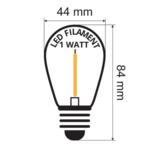 Set completo di catene luminose con 4 lampade LED a filamento colorato