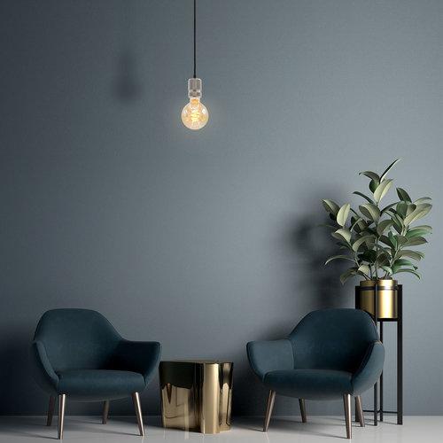 Lampada spirale croissant 5W XL, 1800K, vetro ambra Ø95 - dimmerabile
