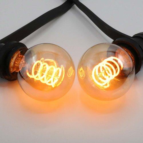 Lampada a spirale 5W, 1800K, vetro ambra Ø60 - dimmerabile