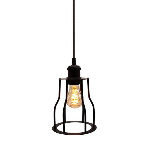 Lampada spirale croissant 5W, 1800K, vetro ambra Ø60 - dimmerabile