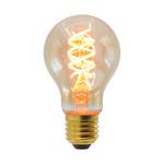 Lampada a spirale DNA 5W, 1800K, vetro ambra Ø60 - dimmerabile