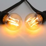 Lampada a filamento da 2,5W, 4,5W, 7W e 10W, 2000K, vetro ambra Ø60 - dimmerabile