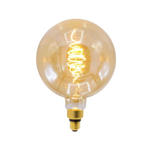 Lampada spirale croissant 8,5W XXXL, 2000K, vetro ambra Ø200 - dimmerabile