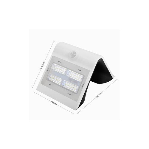 Lampada da parete solare per esterni Single Conan con sensore - bianca