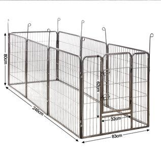 Huismerk Puppyren 8 hoekig  80 cm. hoog grijs hamerslag