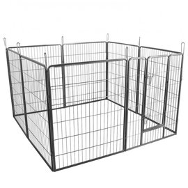 KLD Puppyren 8 hoekig 100 cm. hoog grijs hamerslag