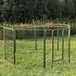 Huismerk Puppyren 8 hoekig 100 cm. hoog grijs hamerslag